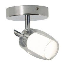 View the Bazz Lighting PX7151CH Accent Series Single-Light Semi Flush Ceiling Fixture, Finished in Chrome at LightingDirect.com.