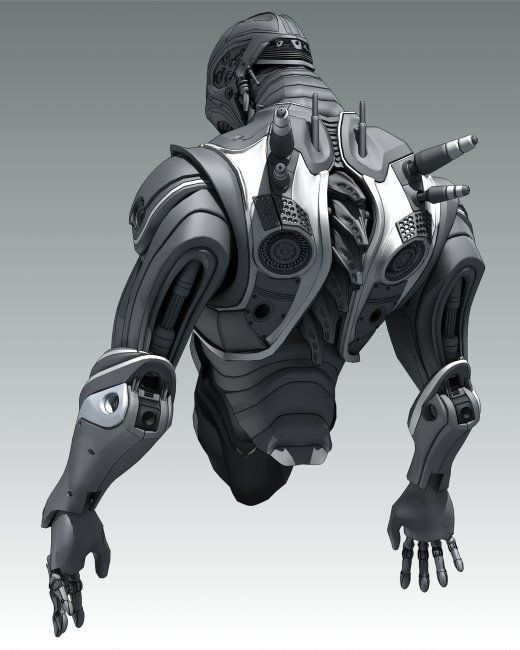 Insprational pictures of robot, spaceship and some not so human anatomy.