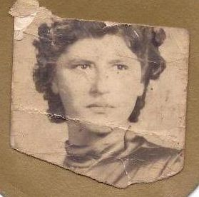 a photo of my mother before she came to Australia as a refugee via the IRO.
