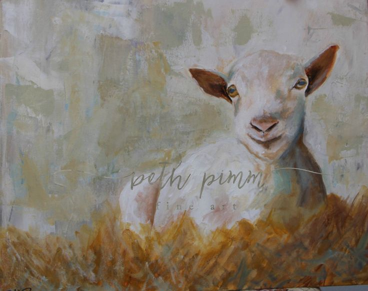 """Little Goat""  16"" x 24"" on gallery wrapped canvas. He's for sale!  contact me a www.bethpimmfineart.com for commissions."