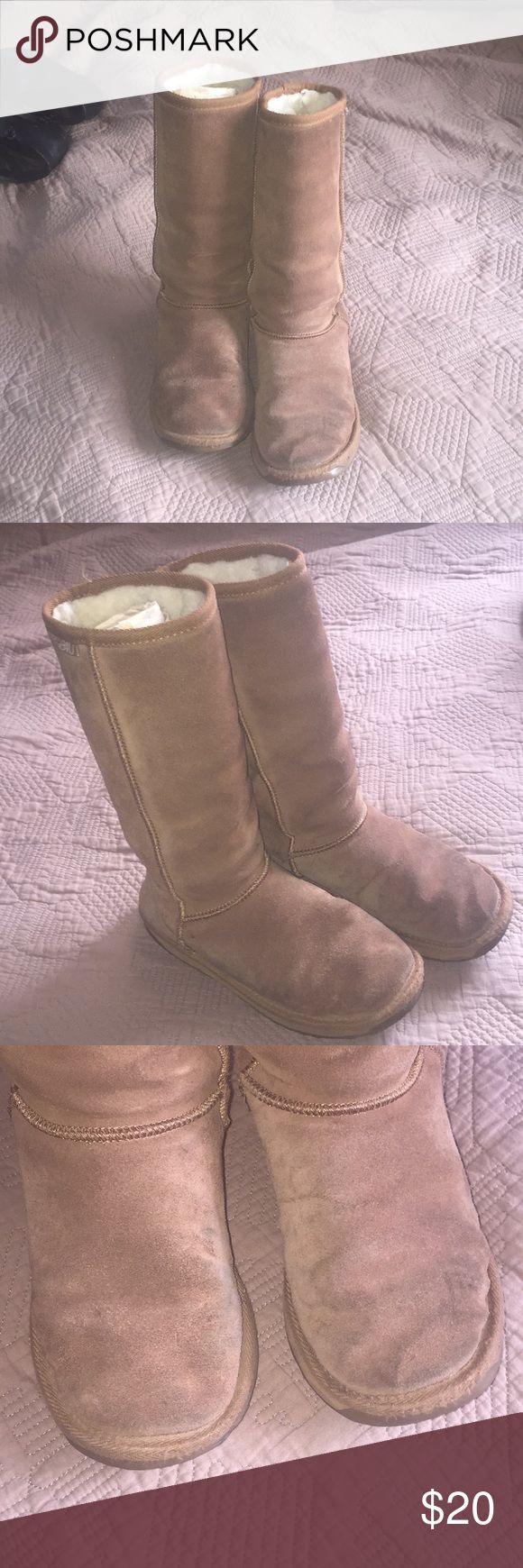 Emu boots Well loved Visible wear shown in pictures Super warm Emu Shoes Winter & Rain Boots