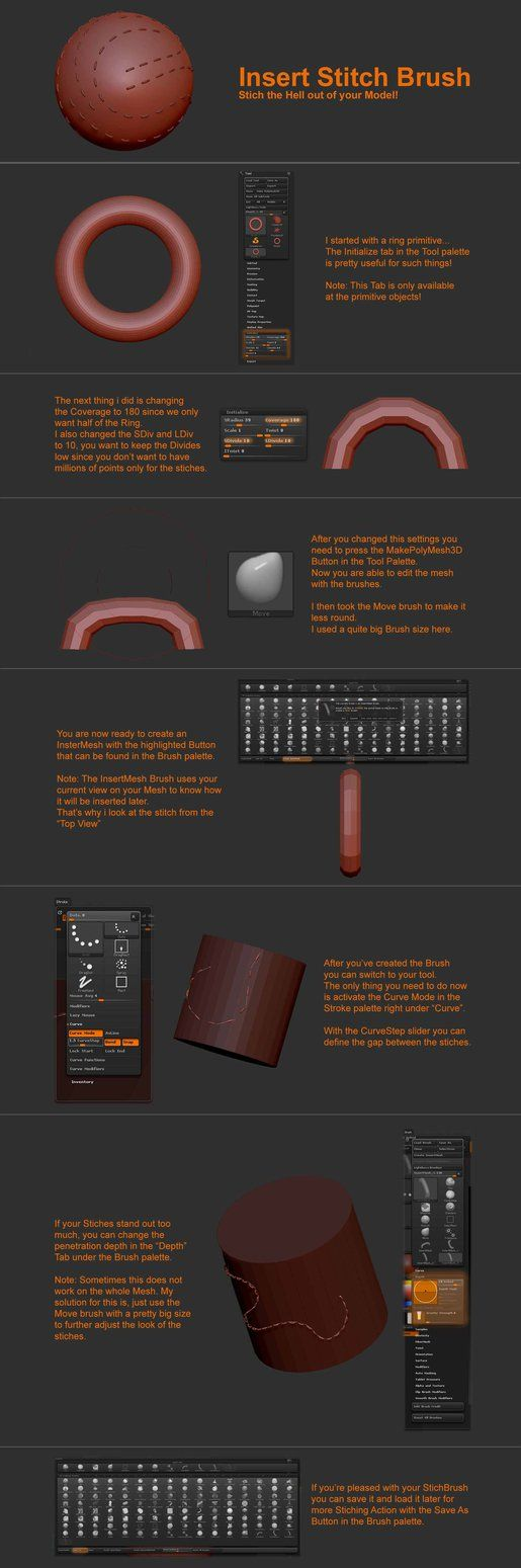 ZBrush Curve/StitchBrush Tutorial by T-Magnus