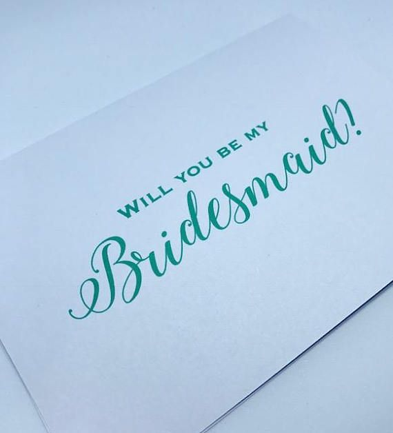 Will You Be My Bridesmaid Card   Thank You For Being My Bridesmaid   Personalized Wedding Invitation   Will You Be My Maid Of Honor