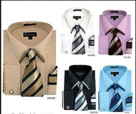 Hombres Francés Manguito Puño de camisa a juego con la etiqueta Loop bufanda en 49 dólares