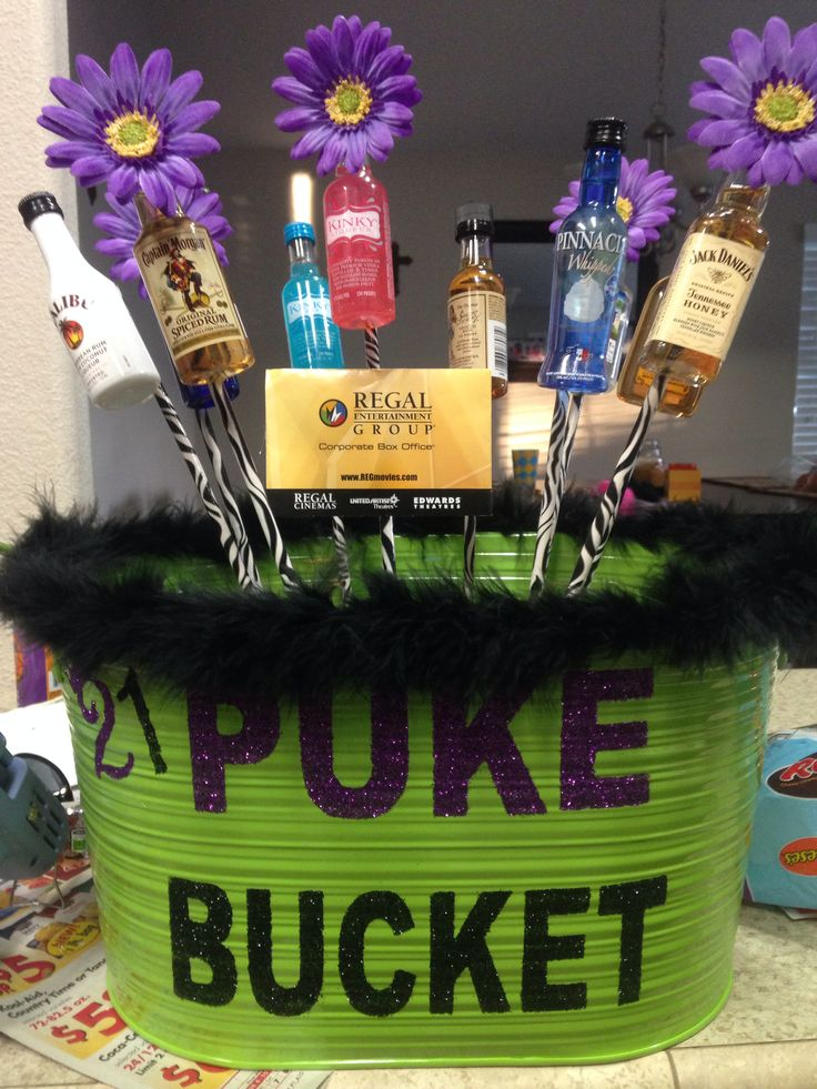 Puke bucket #21st #pukebucket #alcohol #diy #creative #pin #pintrest
