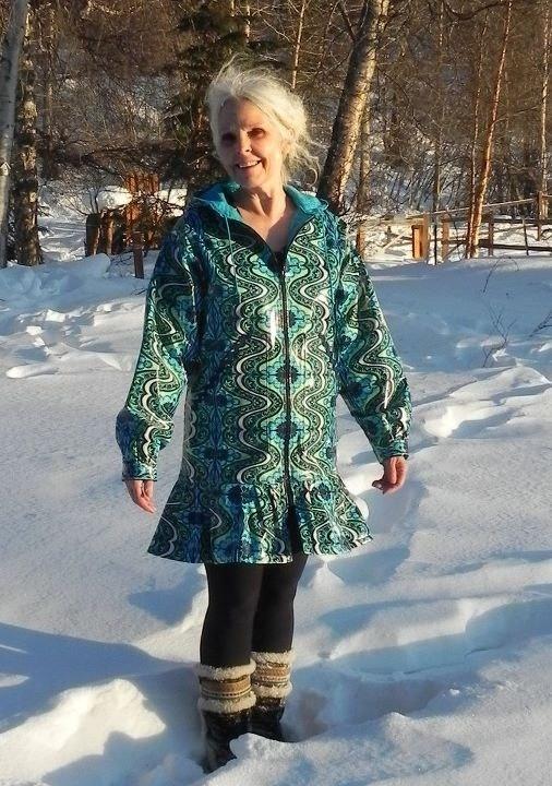 NOT your mothers raincoat,.  These are GREAT!!!  Alaska Gypsy Rainpuk, Adult Raincoat, Amy Butler Lark fabric