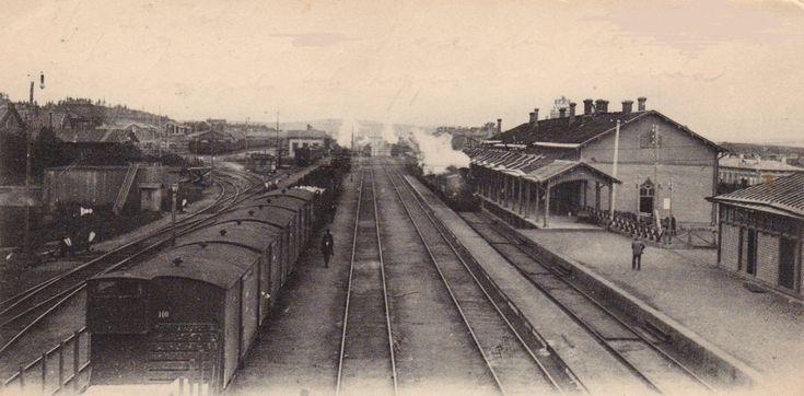 Tampere, Tampere asema. Kuva ajoittunee välille 1898-1902. Kuvaaja: Veijo Malk.