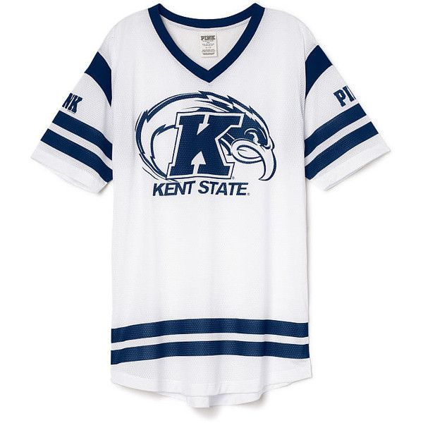 PINK Kent State University Campus Jersey ($45) ❤ liked on Polyvore featuring black