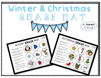 "This free product includes 2 Wh- questions smash mats! The first smash mat focuses on ""what"" questions with winter vocabulary, and the second includes ""who"" and ""what questions using Christmas vocabulary."
