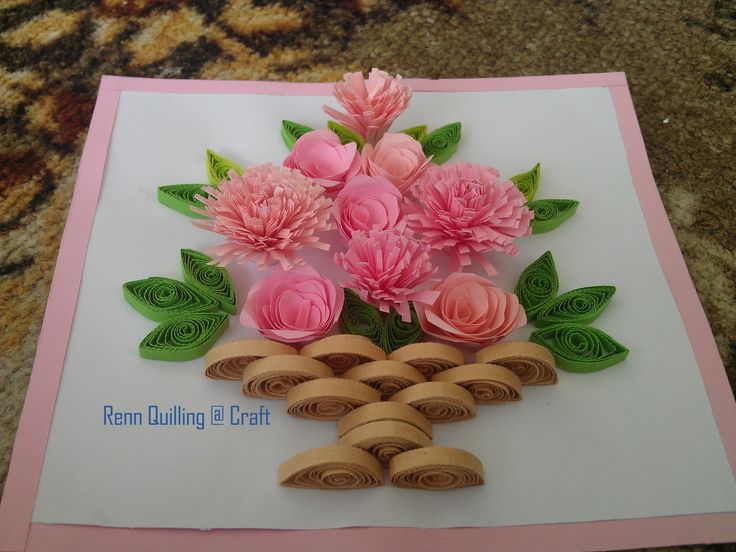 How To Make Flower Basket From Paper : Best images about paper quilling on