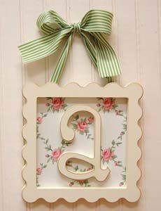 cute: Decor, Frames Letters, Frames Wooden Letters, Nurseries, Gifts Ideas, Framed Wooden Letters, Baby Rooms, Baby Girls Rooms, Crafts