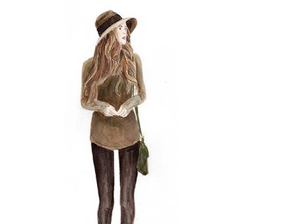 """Check out new work on my @Behance portfolio: """"girl in hat"""" http://be.net/gallery/31341183/girl-in-hat"""
