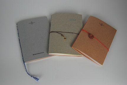 綴じ手製本のノートです。