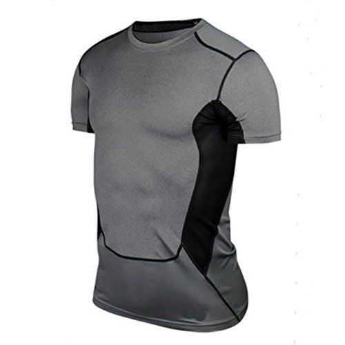 Edal Mens Compression Tight Tops Athletic Base Layer Sportwear Gear TShirt ** Learn more by visiting the image link.Note:It is affiliate link to Amazon.