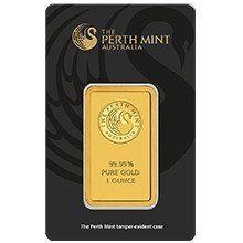 1oz Perth Mint Gold Minted Bar
