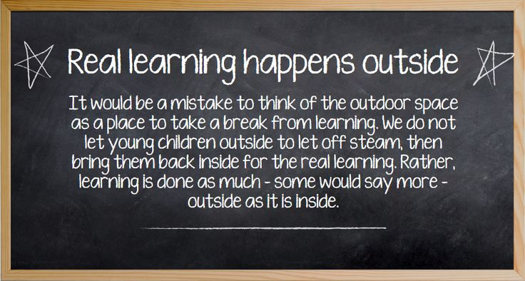 'Outdoor learning'—our new online module launched today! Find out more here: http://ecalearninghub.e3learning.com.au/content/store/store.jsp?category=Programming%20and%20Pedagogy This module has been developed to explore the importance of outdoor environments for children's learning, and show how educators can plan and use outdoor spaces with children. We will also address some of the fears about risky play and explain how educators and children can manage risk without removing the fun.