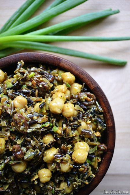 curried wild rice and chickpea salad   Food   Pinterest