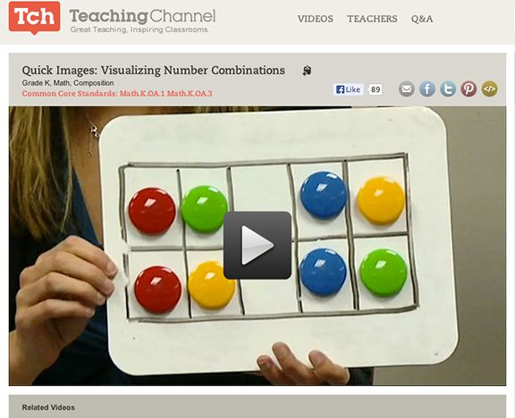 Here's a video from The Teaching Channel on subitizing.