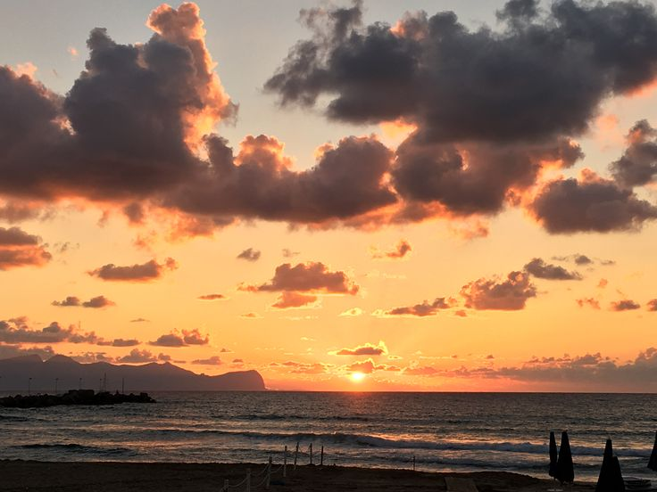 The sunset, Cinsi, Sicily, Italy
