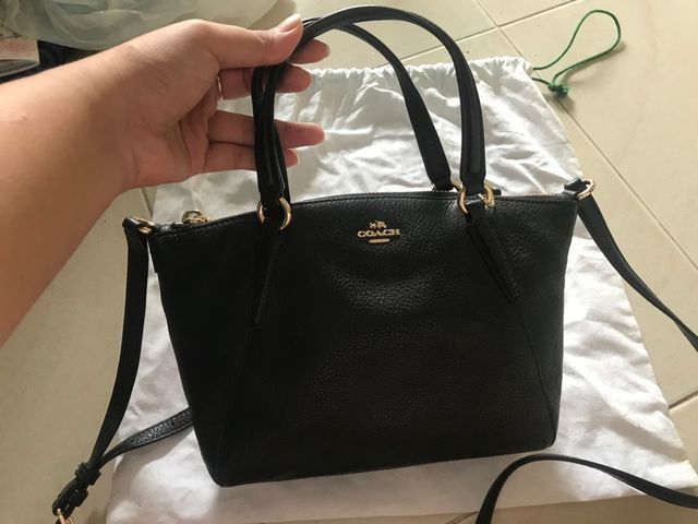 63ea7db103a8 New Coach Black Pebble Leather Small Kelsey Satchel Bag - F36675 Gold  Hardware  fashion  clothing  shoes  accessories  womensbagshandbags ...