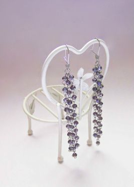 PURPLE CRYSTALS BEADS with STAINLESS WiRE EARRING #earrings #longearrings #purple #crystals #jewelry #jewellery #party #classy #stylish #fashionable #sparkling #oneofakind #beautiful #earring #chandelier #chandelierearrings #jewelrydesigner #highstreetjewelry #weddingjewelry #bridesmaid #bridesmaidaccessories #brideaccessories #brideearrings #bridesmaidearrings #bridejewelry #handmade #classy #stylish #accessories #fashion #fashionjewelry #craft #oneofakind #party #partyjewelry…