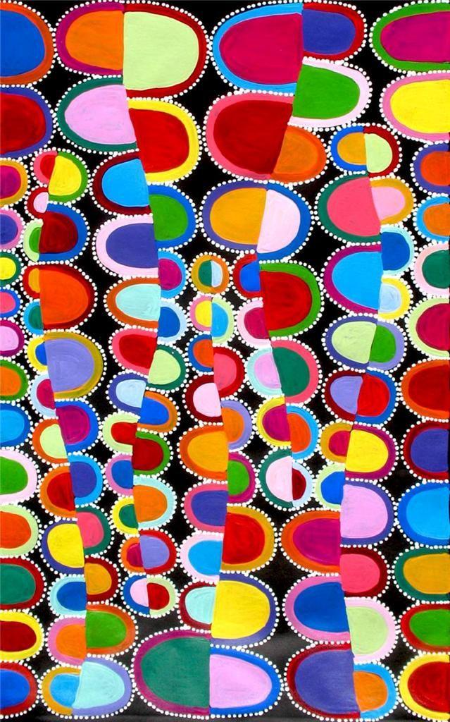 Aboriginal ART BY Sally Clark | eBay. Just love her colours
