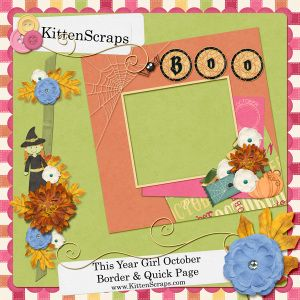 Facebook Freebie-KittenScraps, created using This Year October Girl Kit