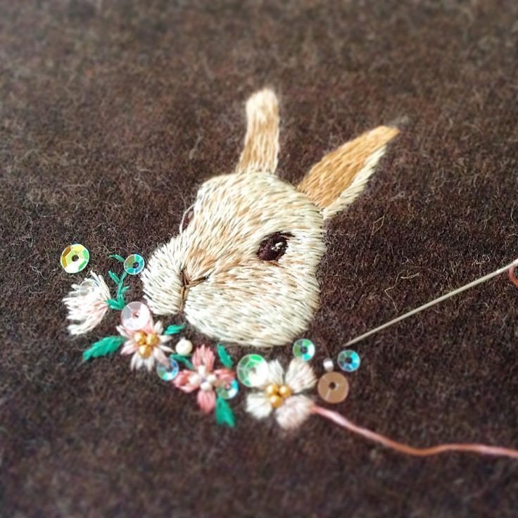 Embroidery little rabbit
