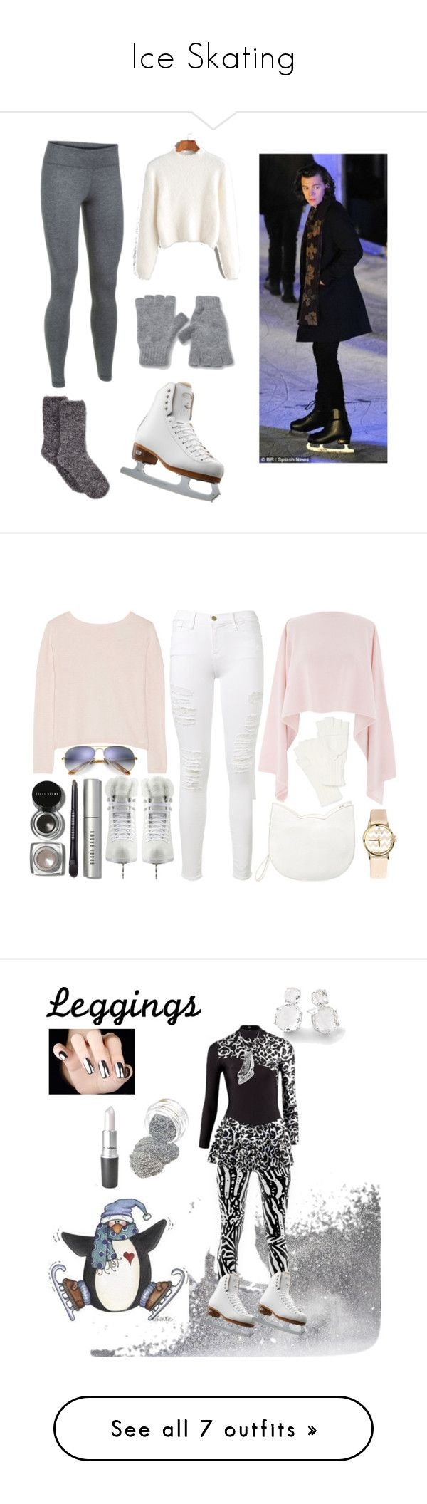 """""""Ice Skating"""" by la-yuki ❤ liked on Polyvore featuring Under Armour, Riedell, Johnstons of Elgin, Ray-Ban, Frame, Artistique, Banjo & Matilda, Forever 21, Henri Bendel and Echo"""