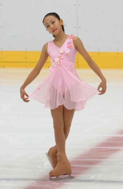 Mao Asada  -Pink Figure Skating / Ice Skating dress inspiration for Sk8 Gr8 Designs.