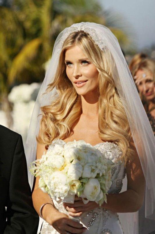Wavy bridal hair, joanna krupa