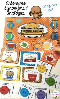 Winner Winner Turkey Dinner www.speechsproutstherapy.com
