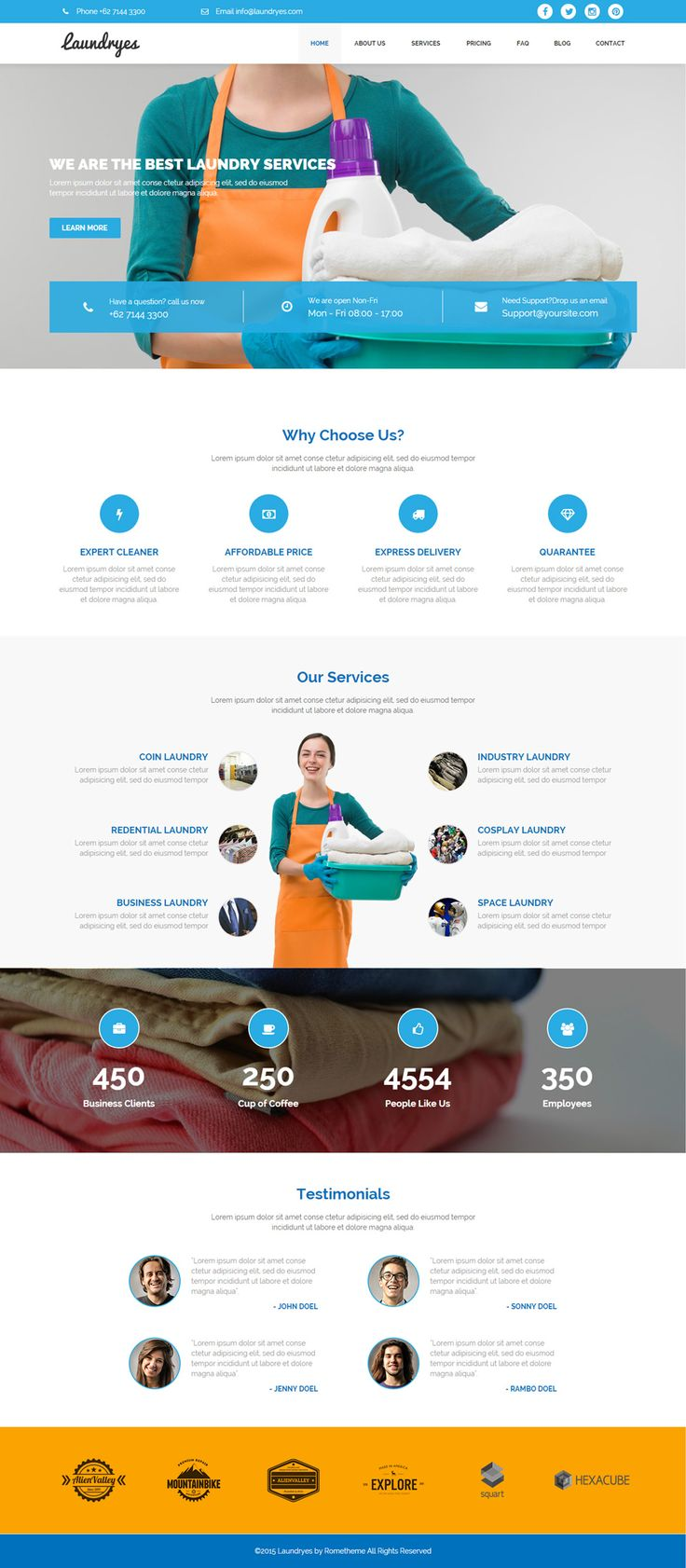 Laundryes - Laundry Business Adobe Muse Template available at #themeforest #envato by rometheme.net