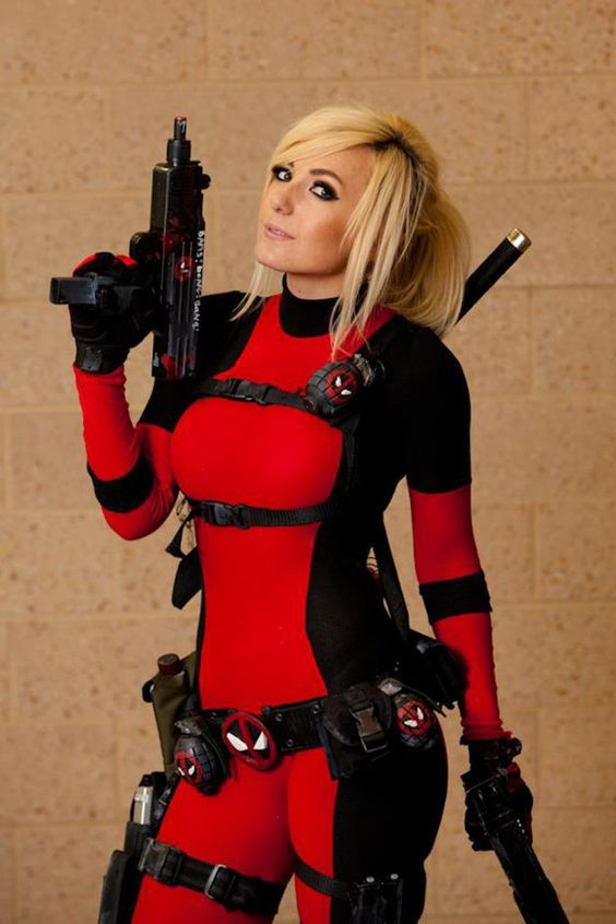 thick deadpool female cosplay - Google Search                                                                                                                                                                                 More
