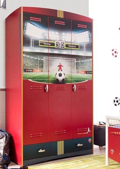 Ντουλάπα μεγάλη με θέμα το ποδόσφαιρο.