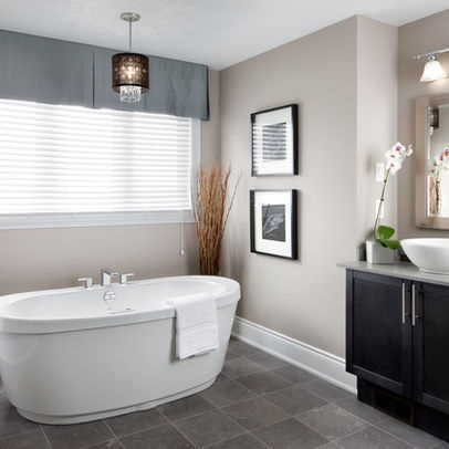 15 best images about curtain ideas on pinterest window for Model home bathrooms