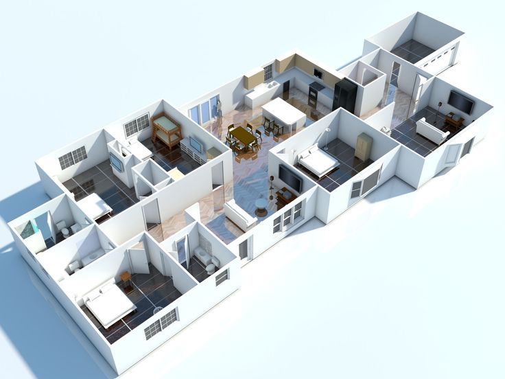 posts tagged interior 3d floor plan houseapartment models and plans pinterest 3d - 3d Home Floor Plan