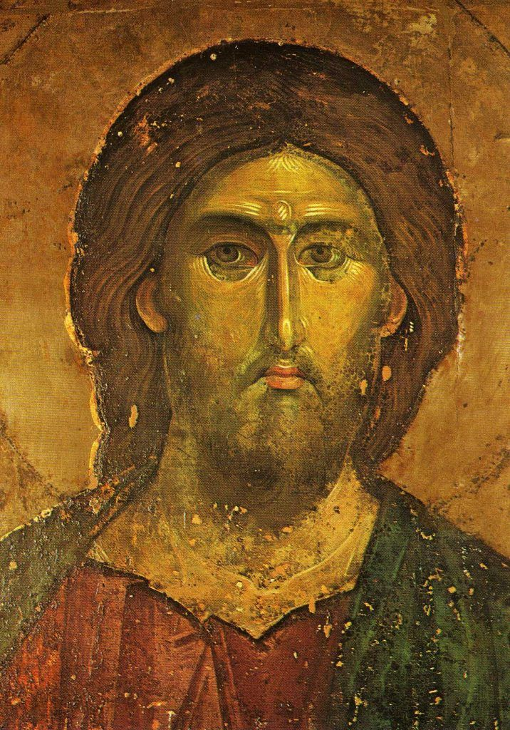 Christ Pantocrator Hilandar (detail) // 1260 // Monastery of Hilandar, Athos // Hand Mounted Ikons for Prayer © Carmelite Monastery Quidenham // #Jesus