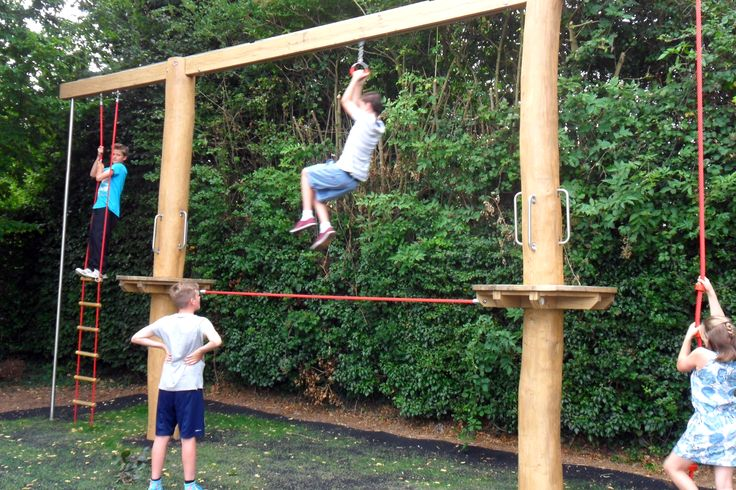 timber play equipment in weedon park great play value for older children looking for challenging play outdoor playgrounds pinterest play equipment
