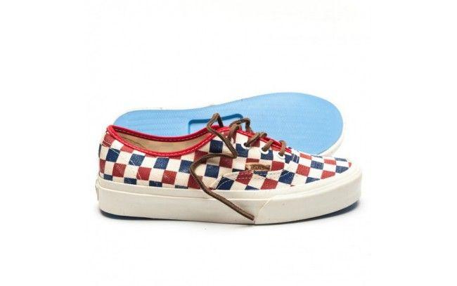 VANS AUTHENTIQUE CA 'Checker' True Blue/Red
