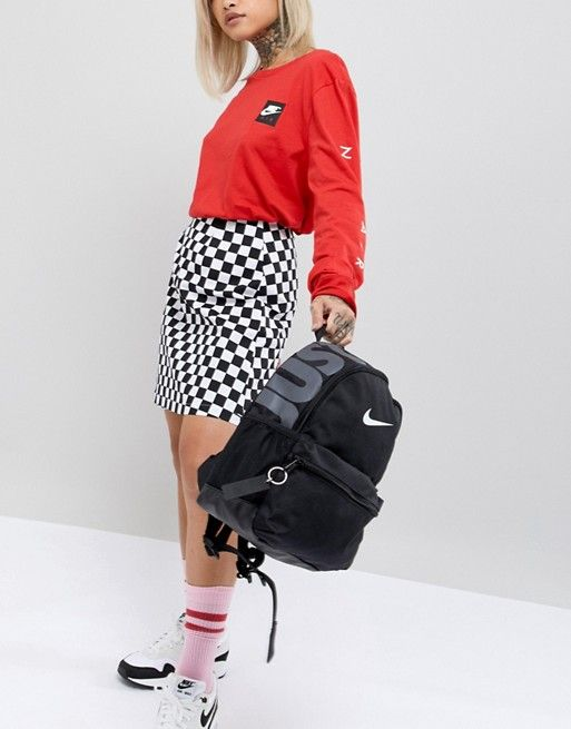 7b52bb44a5 Nike Black Just Do It Logo Mini Backpack