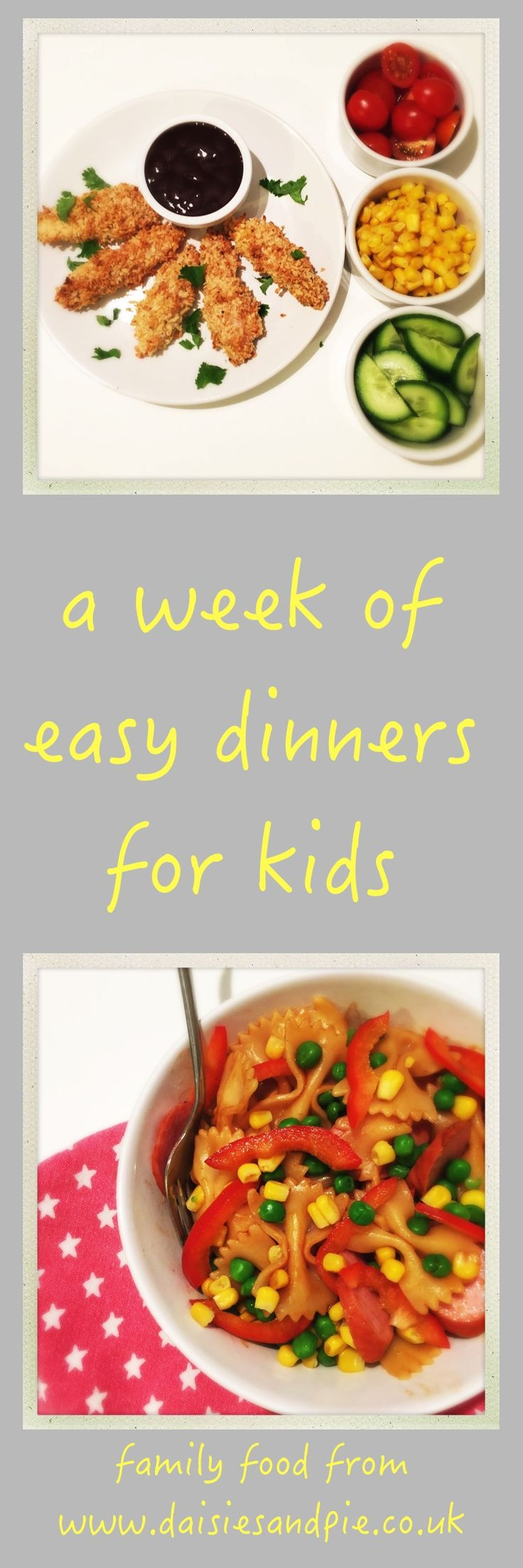 easy dinner ideas for kids, a week of easy school day dinners, quick kid friendly dinner recipes, easy family food from daisies and pie