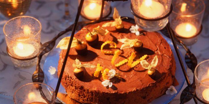 Marquise au chocolat et à la clémentine