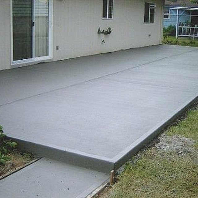Best 25 cement patio ideas on pinterest concrete driveway pavers concrete patio and backyard - Concrete backyard design ...
