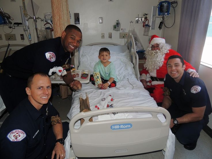 Long Beach Fire Department Joined Santa to Deliver Gifts to Patients at Miller Children's & Women's