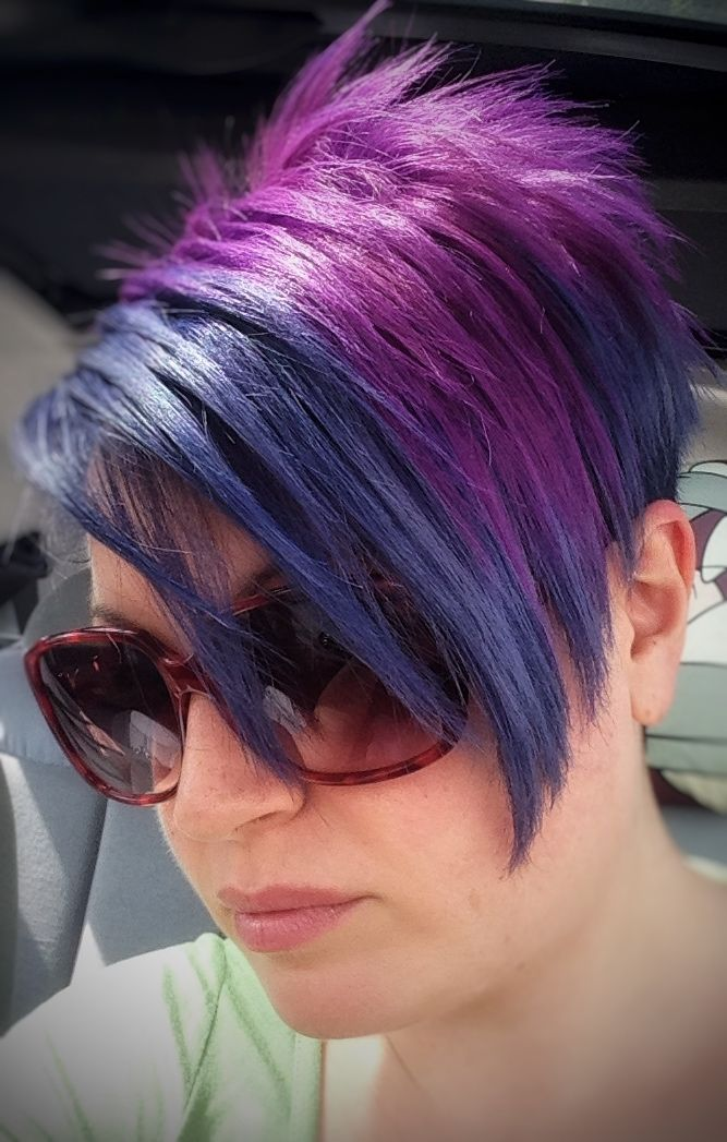 Nuovo look! BL@ALL e VV@ALL della Elumen   New look with Elumen Hair Color blue and violet.