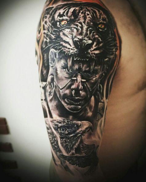 Tattoo Aztec Aztec Tattoos Tatuaje Azteca Calaveras Tatuajes Y