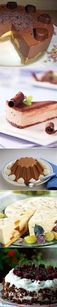 Лучшие торты без выпечки / Изысканные кулинарные рецепты