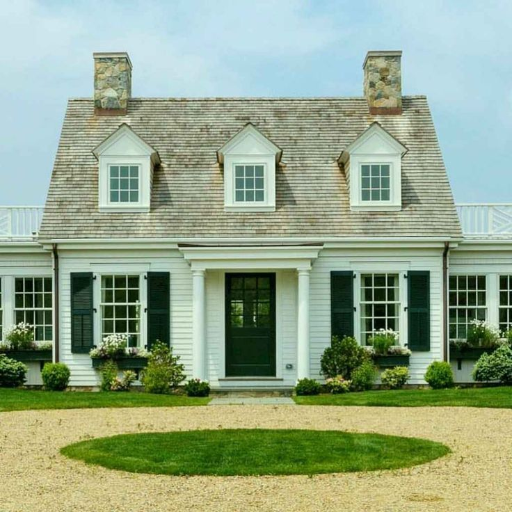 Exterior Home Styles: 46 Conventional Cape Cod House Exterior Ideas #house