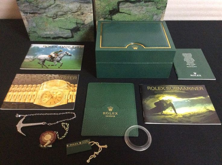 ROLEX 16610 SUBMARINER  WATCH BOX +ANCHOR TAGS BOOKLETS CARD HOLDER FREE SHIP #Rolex